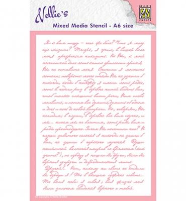 Writing, Schablone - Nellie's Choice
