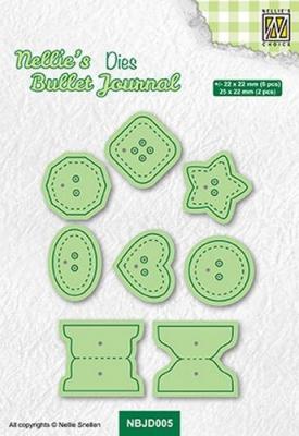 Bullet Journal Buttons, Stanze - Nellie's Choice