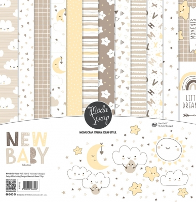 New Baby 12x12 Paperpack - ModaScrap