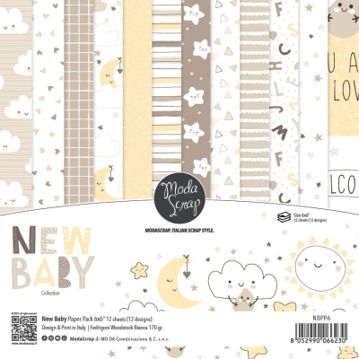 New Baby 6x6 Paperpack - ModaScrap