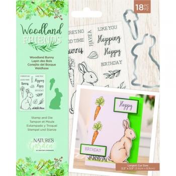 Woodland Friends, Woodland Bunny, Stempel- & Stanzenset - Crafter's Companion