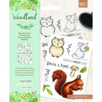 Woodland Friends, Woodland Trio, Clearstamp - Crafter's Companion