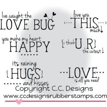 Valentine Sentiments, Clearstamp - C.C.Design