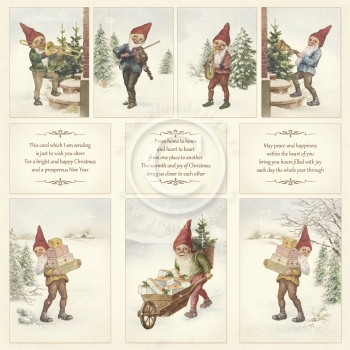 Greetings from the North Pole, Images from the Past, Designpapier - Pion Design