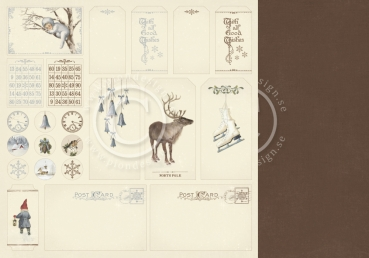 Greetings from the North Pole, Tags, Designpapier - Pion Design