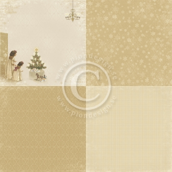The Night before Christmas, Just a peek 6x6, Designpapier - Pion Design