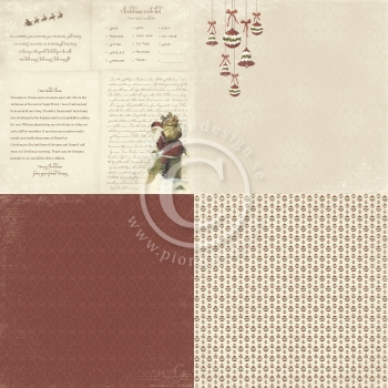 The Night before Christmas, Dear Santa 6x6, Designpapier - Pion Design