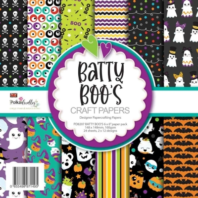 Batty Boos Halloween 6x6 Paperpad - Polkadoodles