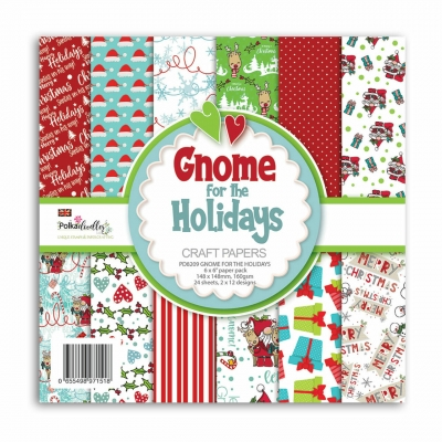 Gnome For The Holidays 6x6 Paperpad - Polkadoodles