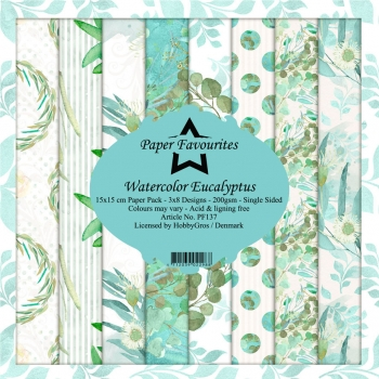 Watercolor Eucalyptus 6x6 Paperpack - Paper Favourites