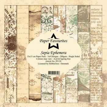 Sepia Ephemera 6x6 Paperpack - Paper Favourites