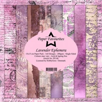 Lavender Ephemera 6x6 Paperpack - Paper Favourites