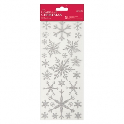 Glitterations Snowflakes Silver - Papermania
