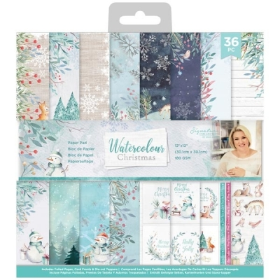 Watercolour Christmas 12x12 Paperpad - Crafter's Companion