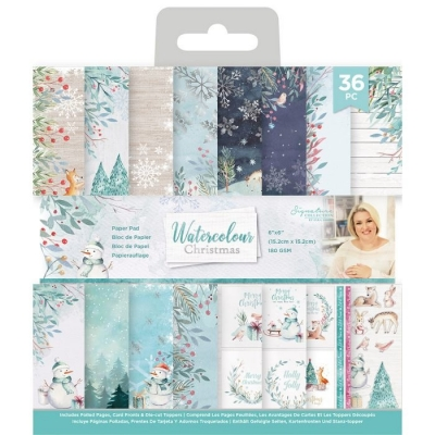 Watercolour Christmas 6x6 Paperpad - Crafter's Companion