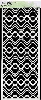 Slim Line Waves, Schablone - Picket Fence Studios