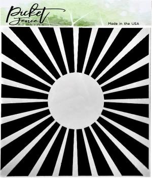 Burst of Sun, Schablone - Picket Fence Studios