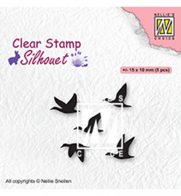 Flying Birds, Clearstamp - Nellie's Choice