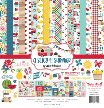 A Slice of Summer 12x12 Inch Collection Kit - Echo Park