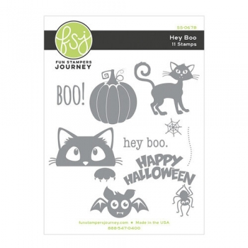 Hey Boo, Rubberstamp - Fun Stampers Journey