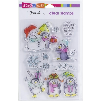 Penguin Gift, Clearstamp – Stampendous