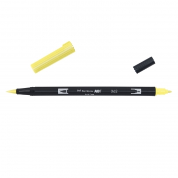 ABT Dual Brush Pen, Pale Yellow - Tombow