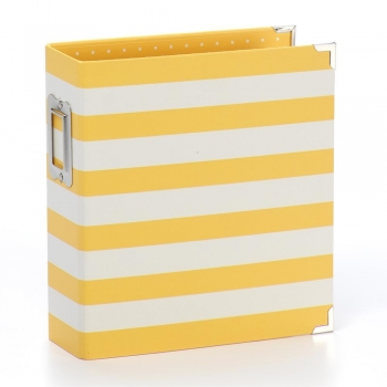 "SN@P Designer Binder 6x8"" Yellow Stripe"