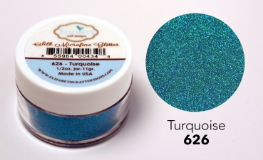 Silk Microfine Glitter, Turquoise - Elizabeth Craft Designs