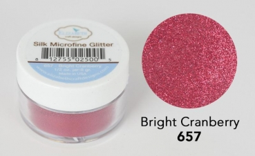 Silk Microfine Glitter, Brights Cranberry - Elizabeth Craft Designs