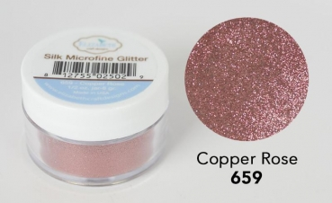 Silk Microfine Glitter, Copper Rose - Elizabeth Craft Designs