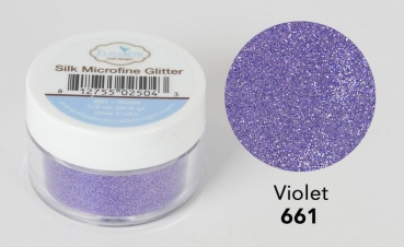Silk Microfine Glitter, Violet - Elizabeth Craft Designs