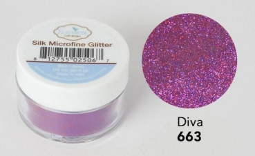 Silk Microfine Glitter, Diva - Elizabeth Craft Designs