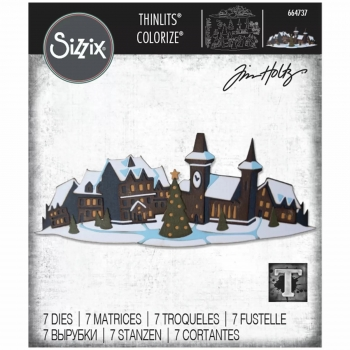 Holiday Village Colorize Thinlits, Stanze - Sizzix (Tim Holtz)