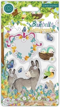 Bluebells and Buttercups, Donkey, Clearstamp - Craft Consortium