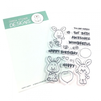 Happy Hoppy, Clearstamp - Gerda Steiner Designs