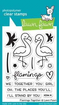 Flamingo Together, Stempel - Lawn Fawn