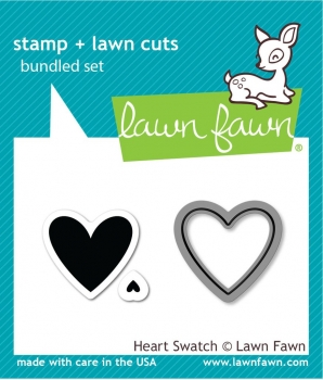 Heart Swatch, Stempel & Stanze - Lawn Fawn