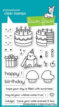 Birthday Before 'n Afters, Stempel - Lawn Fawn