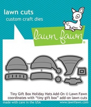 Tiny Gift Box Holiday Hats Add-On, Stanze - Lawn Fawn