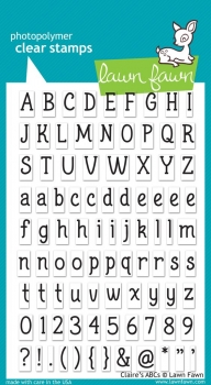 Claire's ABCs, Stempel - Lawn Fawn