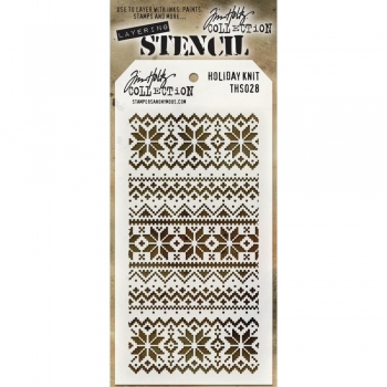Holiday Knit, Layered Stencil - Tim Holtz