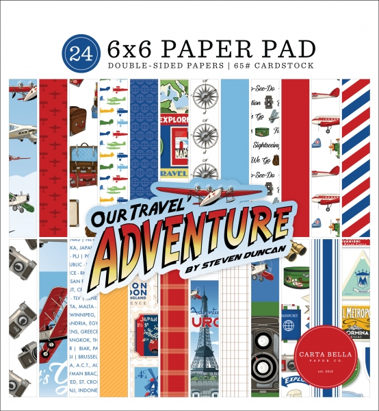 Our Travel Adventure 6x6 Paperpad - Carta Bella