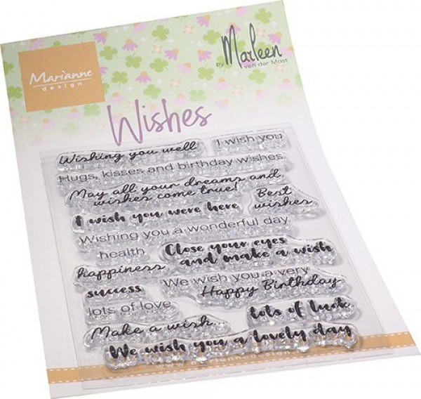 Wishes, Clearstamp - Marianne Design
