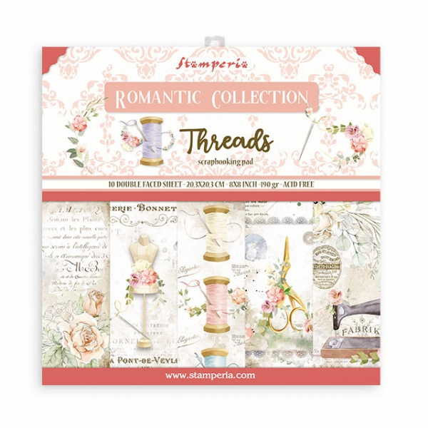 Romantic Threads 8x8 Paperpad - Stamperia